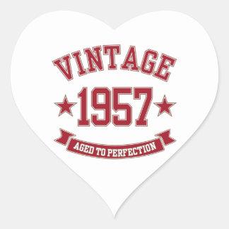 Vintage 1957 envejecido a la perfección calcomania corazon personalizadas