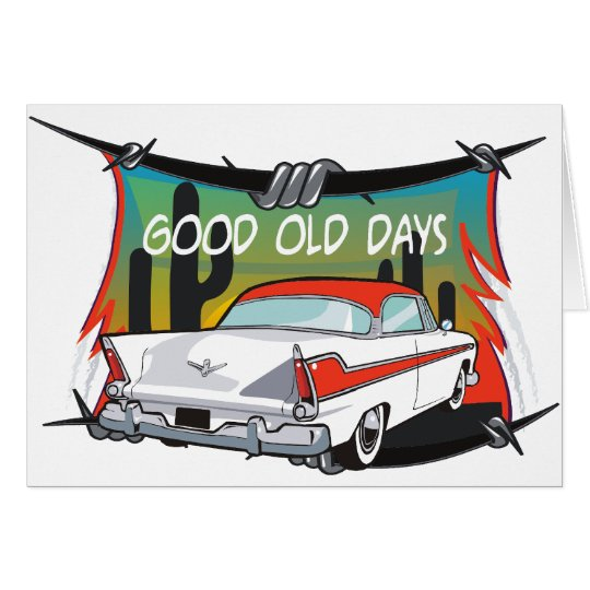 Vintage 1957 Plymouth Card