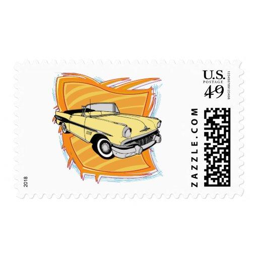 Vintage 1957 Pontiac Muscle Car Postage Stamps