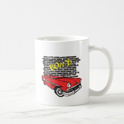 Vintage 1957 Pontiac The Bomb Grafitti Coffee Mug
