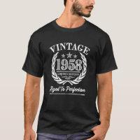 Vintage 1958 60th Birthday Saying Shirt