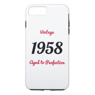 Vintage 1958 Aged To Perfection Birthday Gift iPhone 8 Plus/7 Plus Case