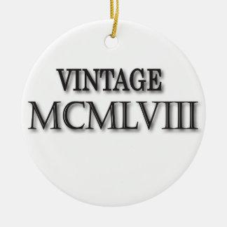 Vintage 1958 Roman Ceramic Ornament