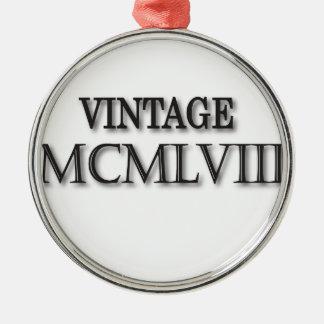 Vintage 1958 Roman Metal Ornament