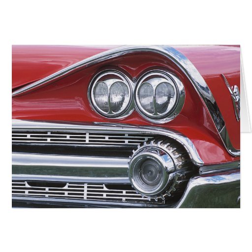 Vintage 1959 Classic Car Grill Photograph Card