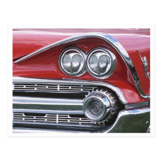 Vintage 1959 Classic Car Grill Photograph Postcard