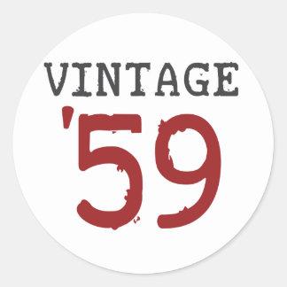 Vintage 1959 classic round sticker