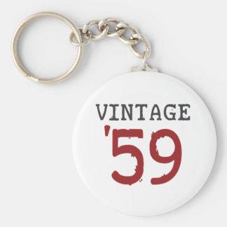 Vintage 1959 llavero redondo tipo pin