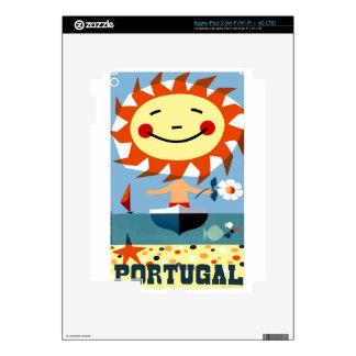 Vintage 1959 Portugal Seaside Travel Poster iPad 3 Decals