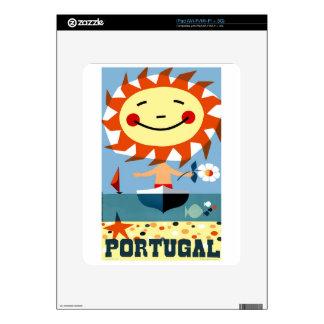 Vintage 1959 Portugal Seaside Travel Poster iPad Decals