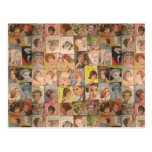 Vintage 1960 Hairstyles Collage Mother's Day Postcard