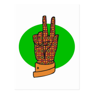 Vintage 1960s and 1970s Peace Hand Sign Postcard