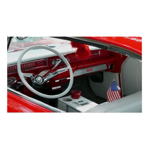 vintage 1960 39 s car interior poster zazzle. Black Bedroom Furniture Sets. Home Design Ideas