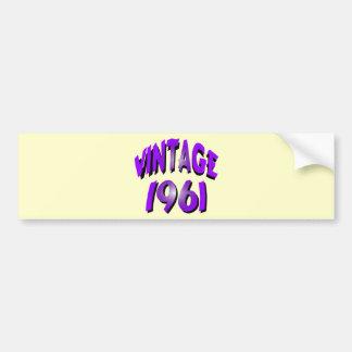 Vintage 1961 bumper sticker