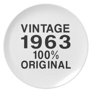 Vintage 1963 plato de comida