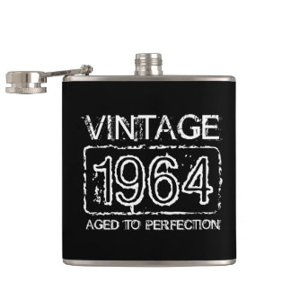 Vintage 1964 Aged to perfection flask for men