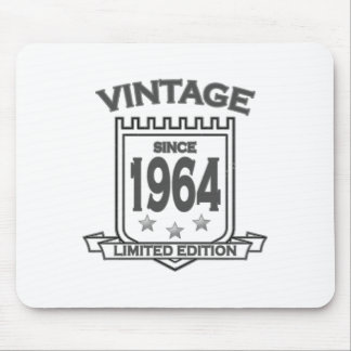 Vintage 1964 birth day limited t shirt.png mouse pad