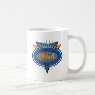 Vintage 1964 classic white coffee mug