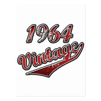 Vintage 1964 postal