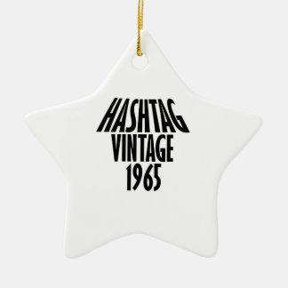 vintage 1965 designs ceramic ornament