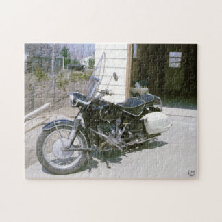 Vintage 1965 Motorcycle Jigsaw Puzzle