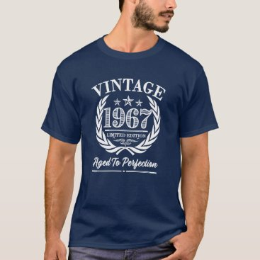 worksaheart Vintage 1967 - 50th Birthday Shirt for men