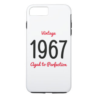 Vintage 1967 Aged To Perfection Birthday Gift iPhone 8 Plus/7 Plus Case