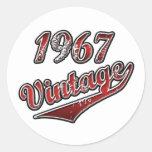 Vintage 1967 etiquetas redondas