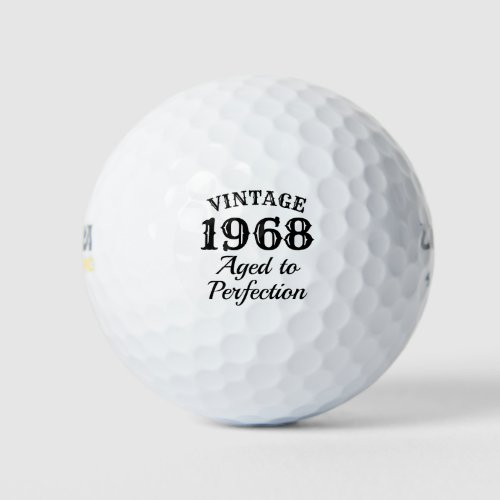 Vintage 1968 Aged to perfection 50th Birthday Golf Balls