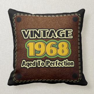 Vintage 1968 - Aged To Perfection Throw Pillow
