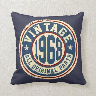 Vintage 1968 All Original Parts Throw Pillow