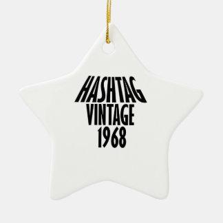 vintage 1968 designs ceramic ornament