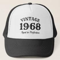 Vintage 1968 trucker hat for men's 50th Birthday
