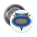Vintage 1969 2 inch round button