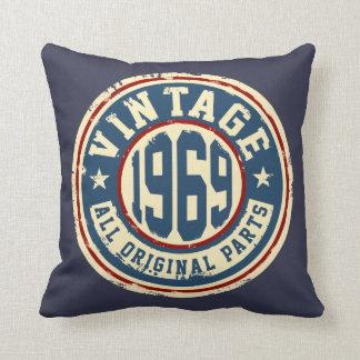 Vintage 1969 All Original Parts Pillow