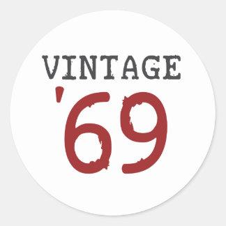 Vintage 1969 classic round sticker