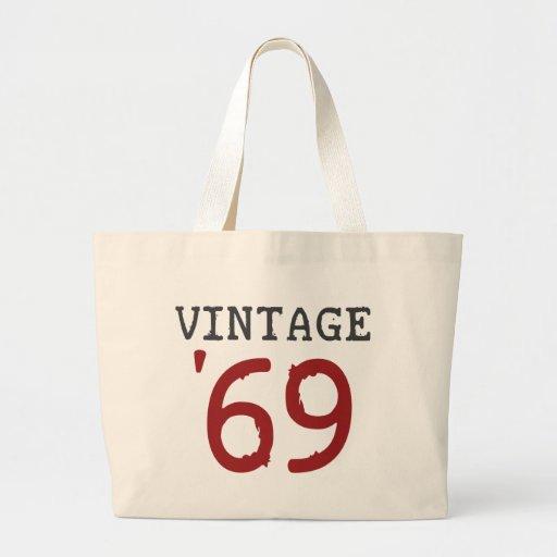 Vintage 1969 tote bags