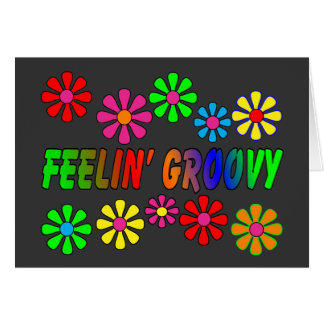 """Vintage 1970's """"Feelin' Groovy"""" gifts Greeting Cards"""