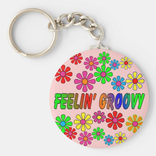 """Vintage 1970's """"Feelin' Groovy"""" gifts Key Chains"""