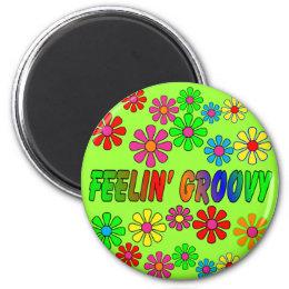 "Vintage 1970's ""Feelin' Groovy"" gifts Magnet"