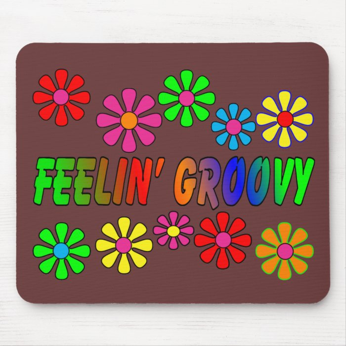 """Vintage 1970's """"Feelin' Groovy"""" gifts Mouse Pad"""