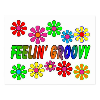 "Vintage 1970's ""Feelin' Groovy"" gifts Postcard"