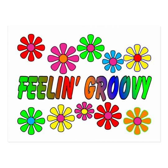 "Vintage 1970's ""Feelin' Groovy"" gifts Postcard"