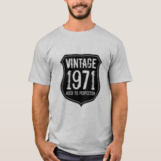 Vintage 1971 aged to perfection t shirt for men