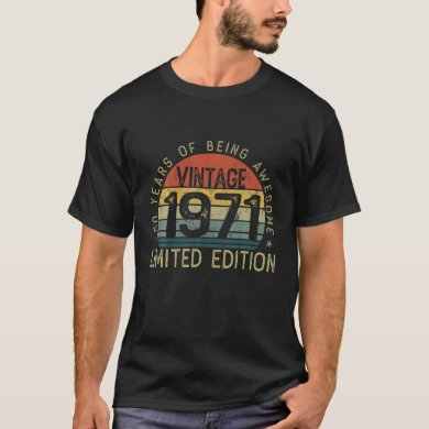 Vintage 1971 Retro 50th Birthday 50 Years Old Bein T-Shirt