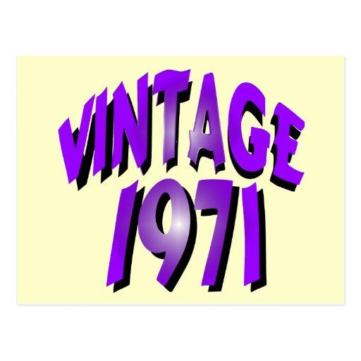 Vintage 1971 tarjeta postal