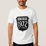Vintage 1972 aged to perfection t shirt for men