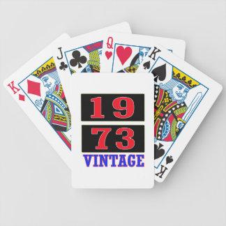 Vintage 1973 baraja cartas de poker