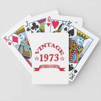 Vintage 1973 envejecido a Paerfection Baraja De Cartas