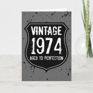 Vintage 1974 Aged To Perfection Greeting Card Men
